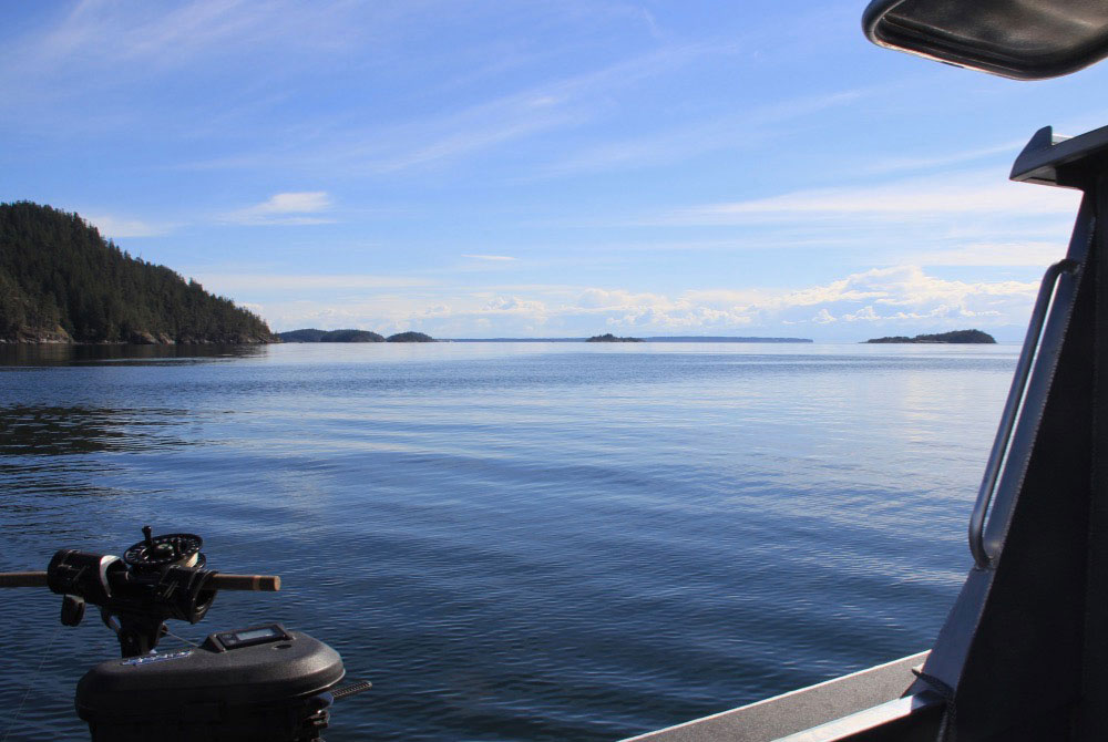 View of Malaspina peninsula from boat