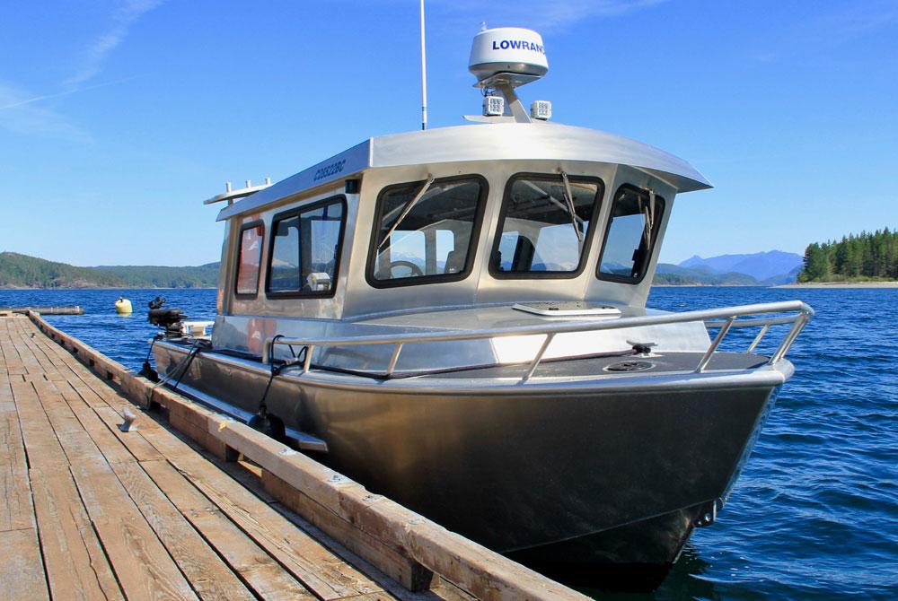 Northwest Aluminum Craft boat at the dock