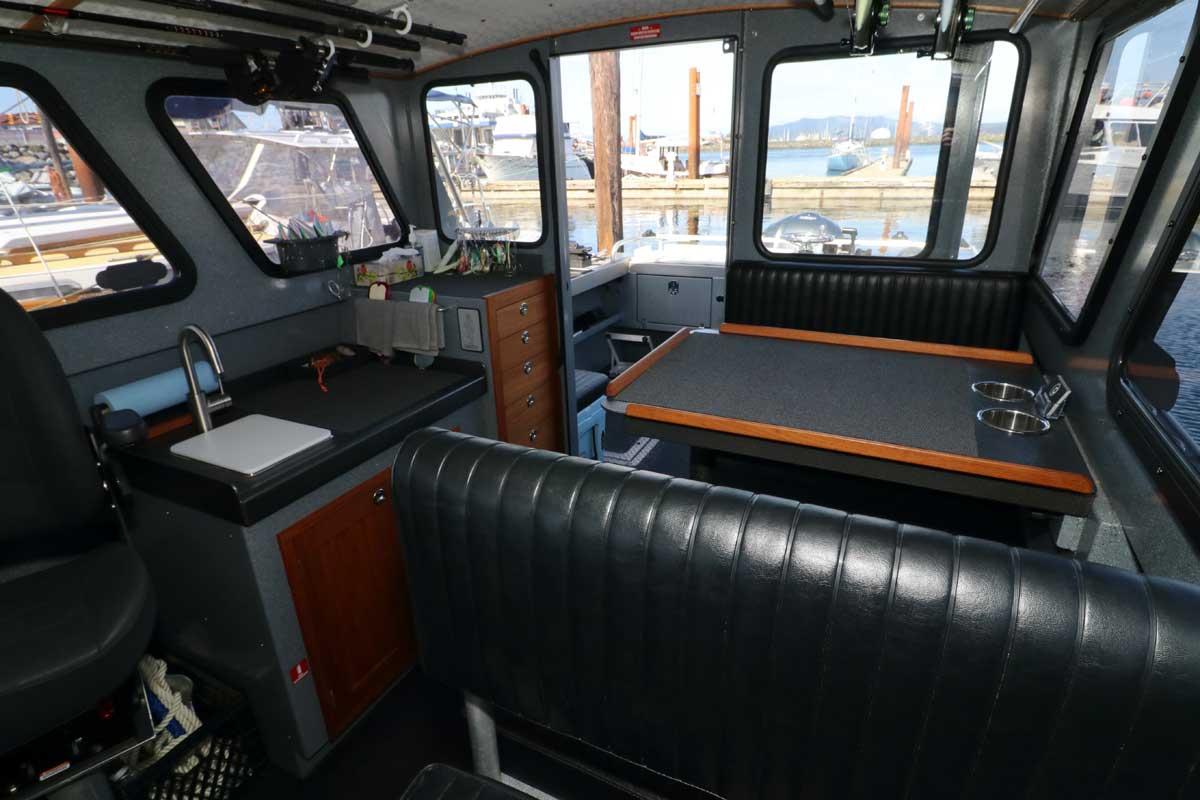 Interior of Northwest Aluminumcraft Boat