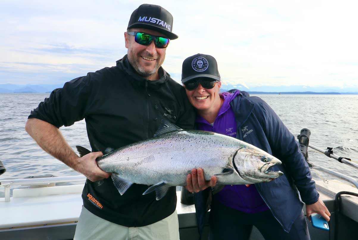 Couple with King Salmon